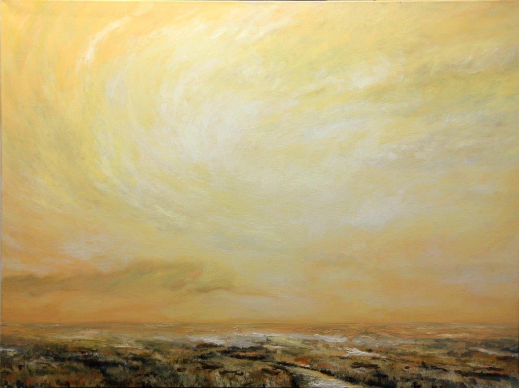 Winter Sky II, Dale Kirschenman2009, O.C. 36x48in